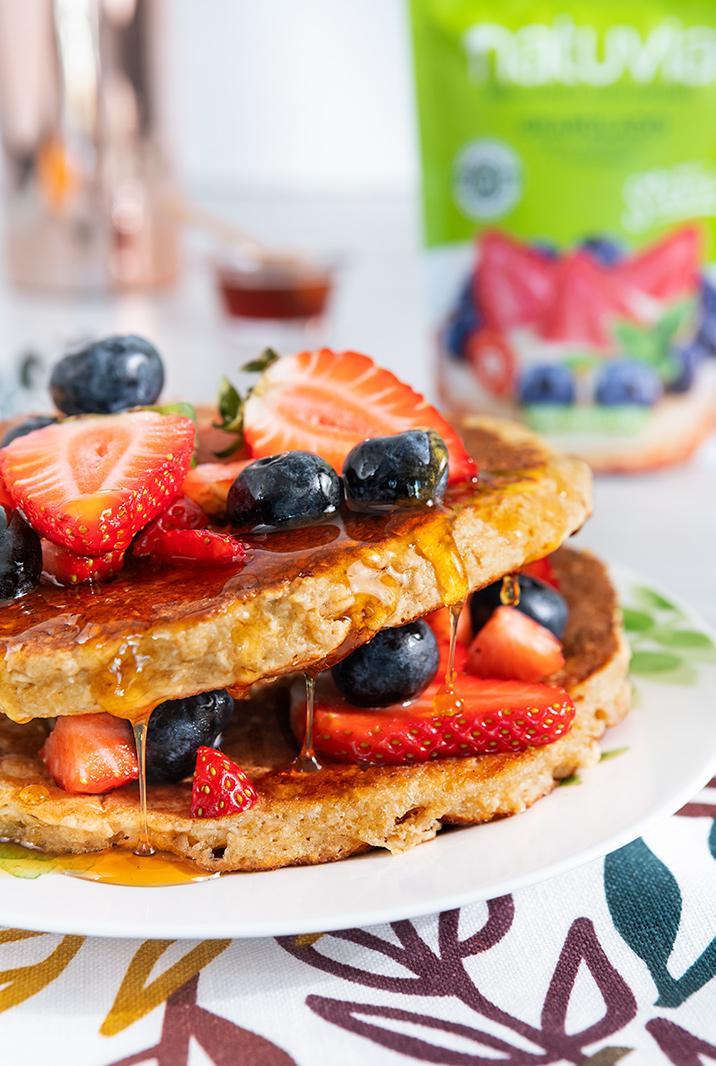 Pancakes de avena con fresa