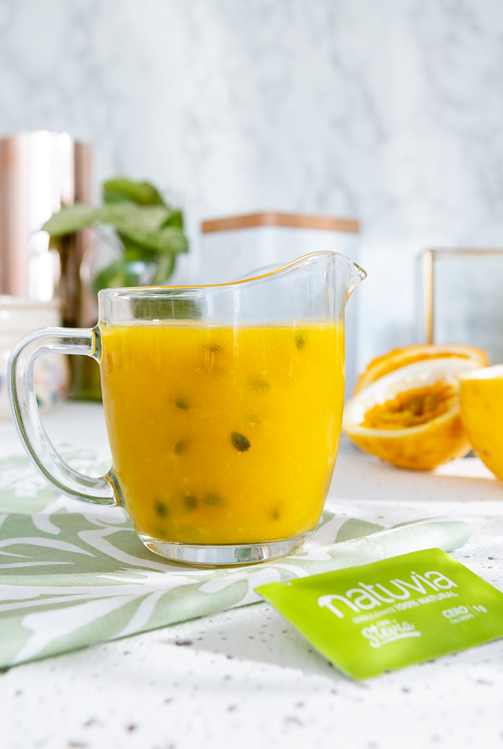 Salsa de naranja y maracuyá