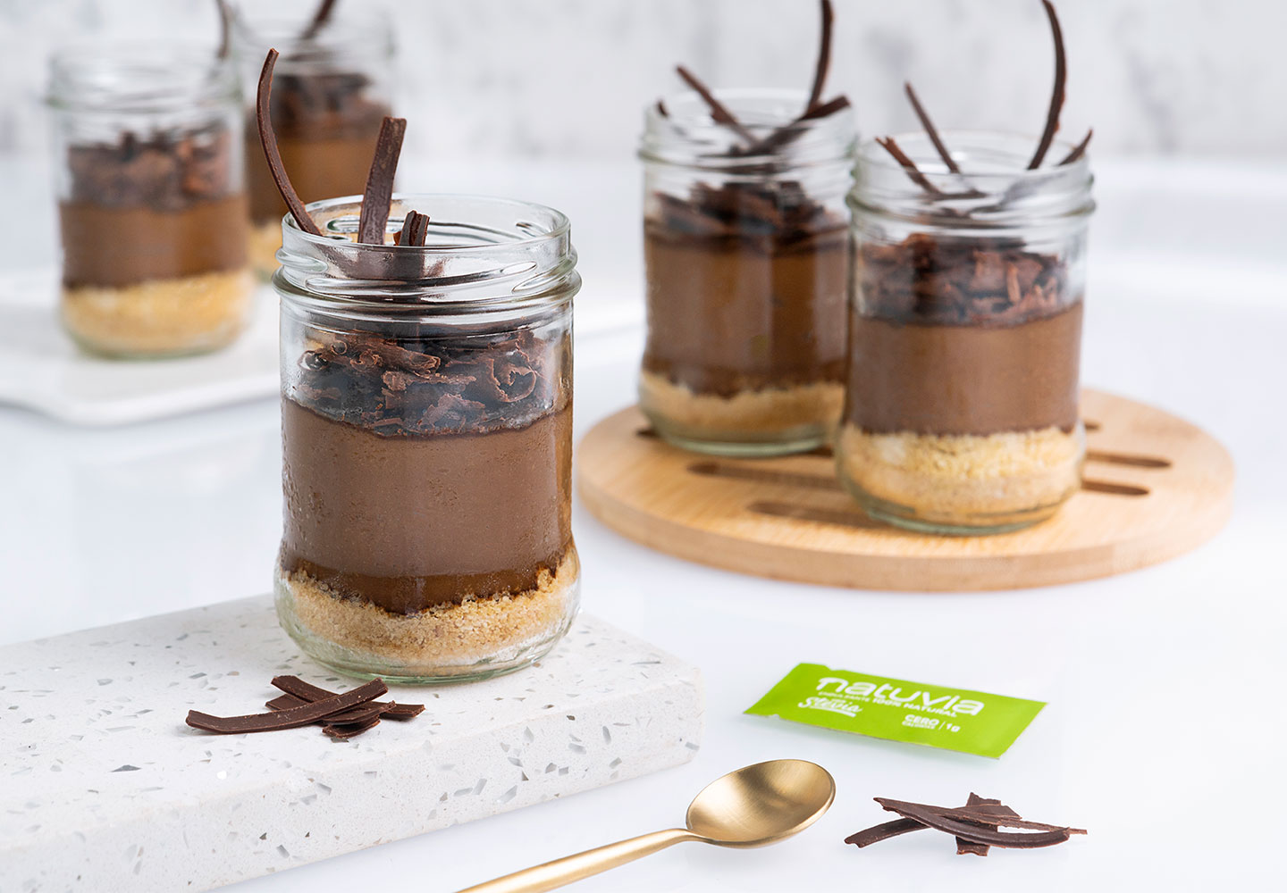 Mousse de aguacate y chocolate negro